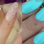 Kesha dot finger tattoo
