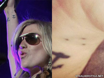 Kesha dots wrist tattoo