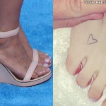 Kesha heart foot tattoo