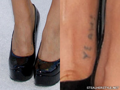 Kesha yeah foot tattoo