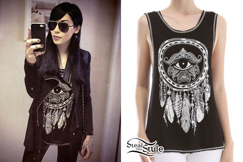 Lexus Amanda: Eye Dreamcatcher Muscle Tee