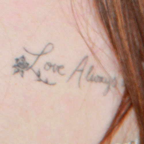 Lily collins 6 tattoos meanings steal her style for Love always tattoo