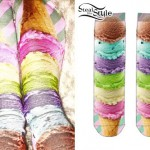 Miley Cyrus: Ice Cream Cone Socks