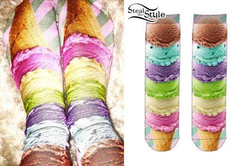 Miley Cyrus: Ice Cream Cone Socks