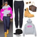 Rihanna: BGC Hoodie, Boyfriend Jeans