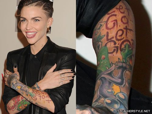 Ruby Rose Gumby Quot Let Go Let God Quot Forearm Tattoo Steal