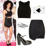 Shereen Cutkelvin: Crop Top, Wrap Skirt