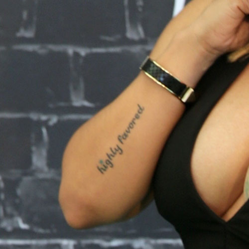 Tameka Tiny Cottle Harris Writing Forearm Tattoo Steal Her Style