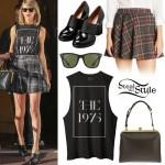 Taylor Swift: The 1975 Tank, Plaid Skirt