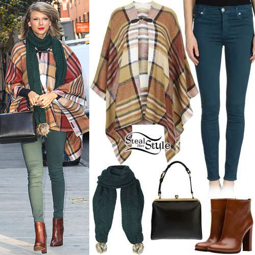 Taylor Swift: Checked Cape, Cable Scarf