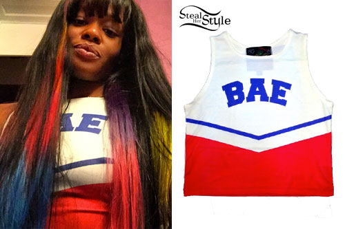 Azealia Banks: 'BAE' Cheerleader Top