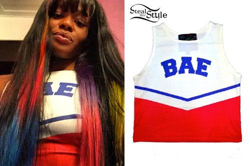 Azealia Banks: 'BAE' Cheerleader Top
