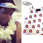 Azealia Banks: Emoji Print Crop Top