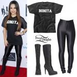 Becky G: 'Bonita' Mesh T-Shirt, Laced Boots