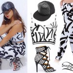 Becky G: Graffiti Print Crop Top & Joggers