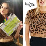 Becky G: Leopard Short Sleeve Sweater