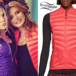 Bella Thorne: Neon Red Quilted Vest