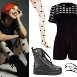 Hayley Williams: Caged Romper, Spot Tights