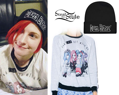 Hayley Williams: 'Dem Boyz' Hat, Mean Girls Sweater