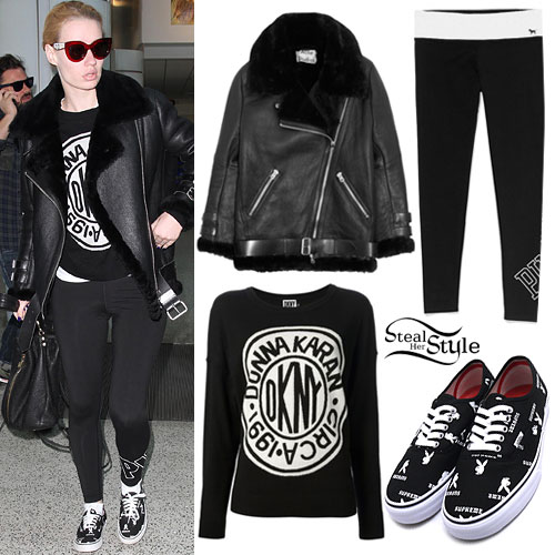 Iggy Azalea: Fur-Lined Biker Jacket, Playboy Shoes