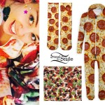 Miley Cyrus: Pizza Onesie & Socks