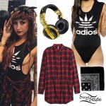 Allison Green: 'Adios' Top, Gold Headphones