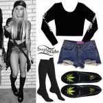 Allison Green: Pot Leaf Shoes Outfit