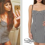 Allison Green: Black & White Striped Dress