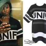 Angel Haze: Black UNIF Jersey