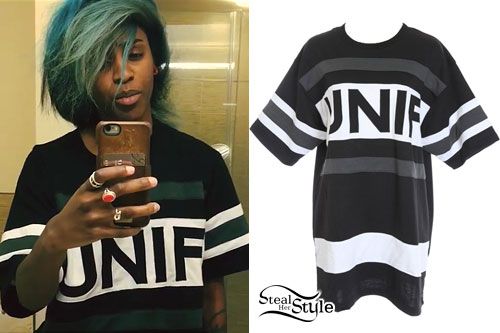 Angel Haze: Black UNIF Jersey