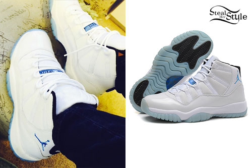 Becky G: White Air Jordan Sneakers