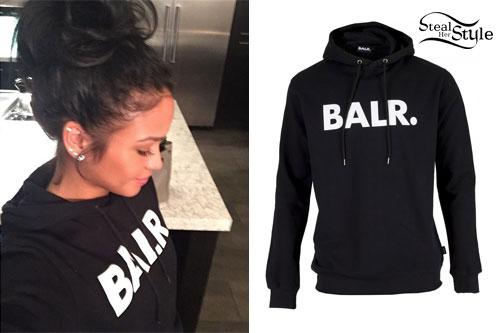 Cassie Ventura: Black 'BALR' Hoodie