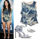 Charli XCX: Bleached Denim Top & Shorts