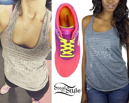 Demi Lovato: Hope Tank, Pink Sneakers