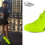 DEV: Neon Yellow Sneakers