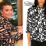 Ella Henderson: Letter Print Button-Up