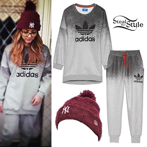 Jade Thirlwall: Yankees Beanie, Adidas Sweats