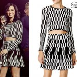 Katy Perry: Diamond Print Top & Skirt