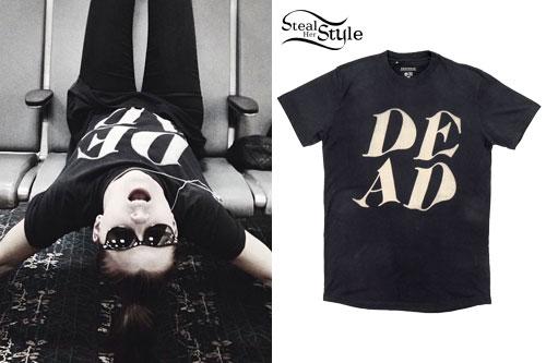 Lynn Gunn: Black 'DEAD' T-Shirt