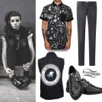 Lynn Gvnn: Print Button-Up, Zip Shoes