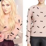 Meghan Trainor: Ribbon Bow Sweater