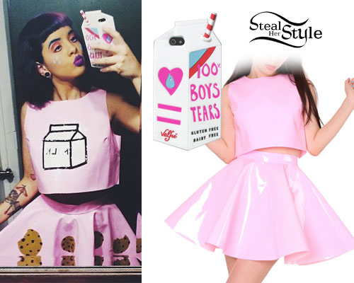 Melanie Martinez: Pink Vinyl Top & Skirt