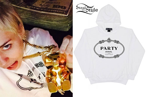 Miley Cyrus: 'Party Animal' Hoodie