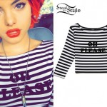 Nia Lovelis: 'Oh Please' Striped Top