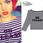 Nia Lovelis: 'Oh Please' Striped Top