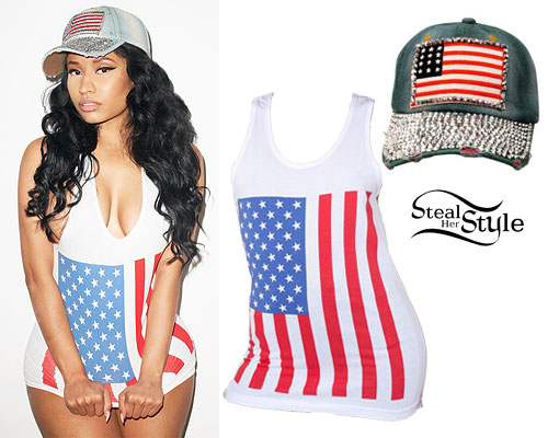 Nicki Minaj: American Flag Tank Top