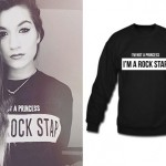 Parisa Tarjomani: Black 'Rock Star' Sweatshirt