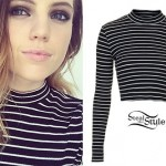 Sydney Sierota: Striped Long Sleeve Top