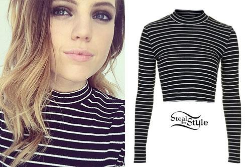 Sydney Sierota: Striped Long Sleeve Top