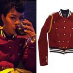 Teyana Taylor: Red Marching Band Jacket